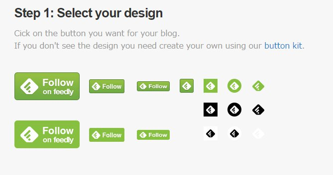 feedly button