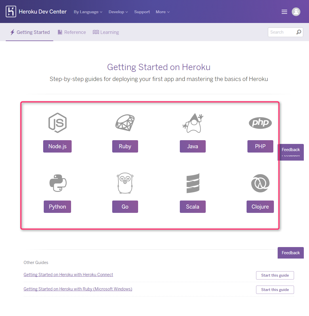 heroku getting started