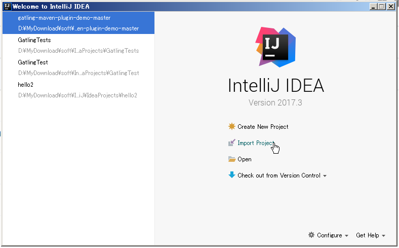 intelliJ project import